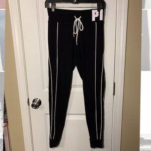 PINK Pants - Medium PINK blk/wht joggers